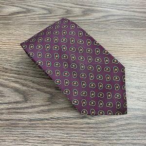 Polo Ralph Lauren Purple Paisley Silk Tie